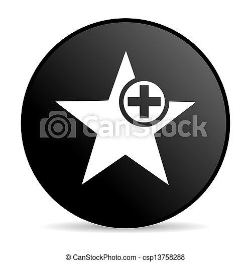 Toile étoile Noir Lustré Cercle Icône