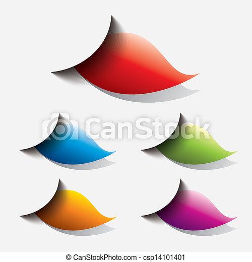 toile, bouton, ensemble, coloré - csp14101401