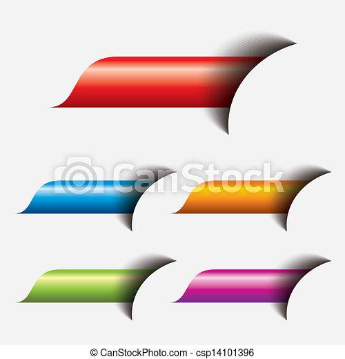 toile, bouton, ensemble, coloré - csp14101396