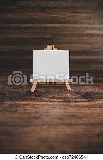 toile, copyspace, miniature, bois, entouré, lumières, bureau noir, fée - csp72466541