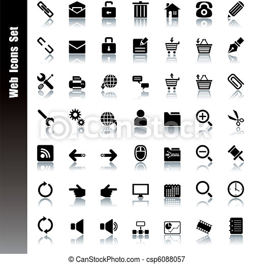 toile, ensemble, icônes - csp6088057