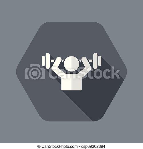toile, gymnase, -, vecteur, activité, icône - csp69302894