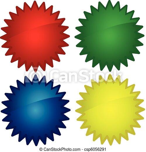 toile, lustré, boutons, icônes - csp6056291