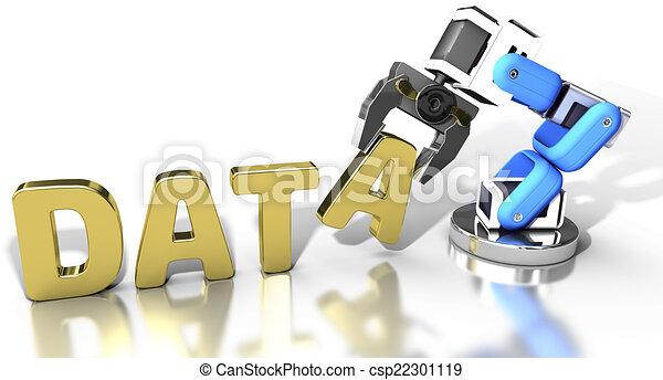 toile, stockage, technologie, robotique, données - csp22301119