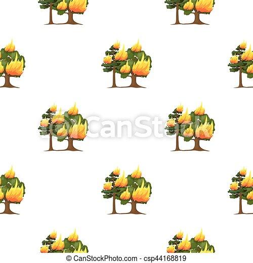 toile, style, brûler, vecteur, forêt, dessin animé, icône - csp44168819
