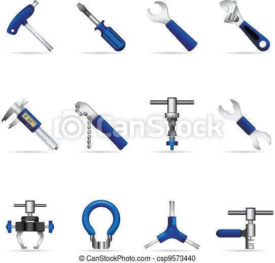toile, -, vélo, outils, icônes - csp9573440