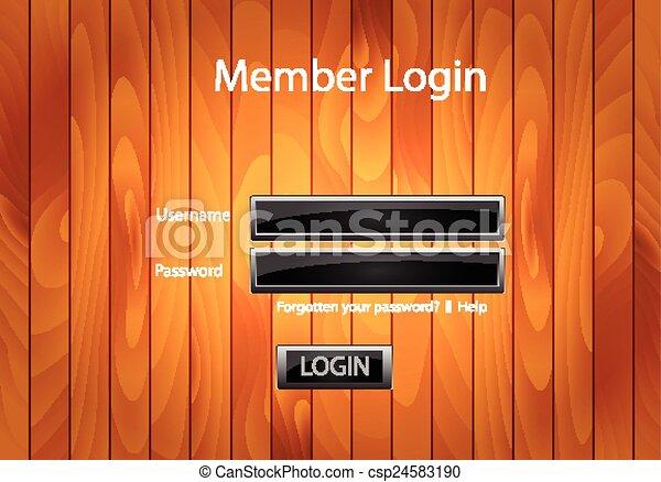 toile, vecteur, formulaire, gabarit - csp24583190