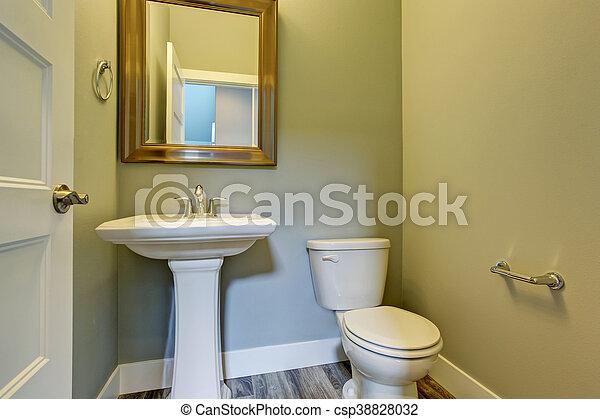 Kleine Wasbak Toilet : Toilet badkamer wasbak ingelijst kleine spiegel interieur