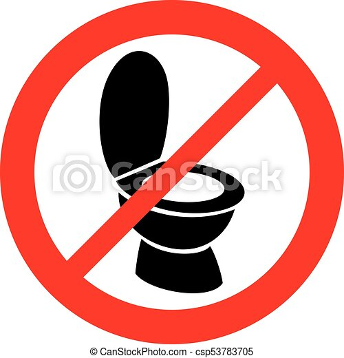 toilet bowl not allowed sign - csp53783705