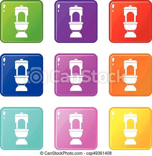 Toilet bowl set 9 - csp49361408