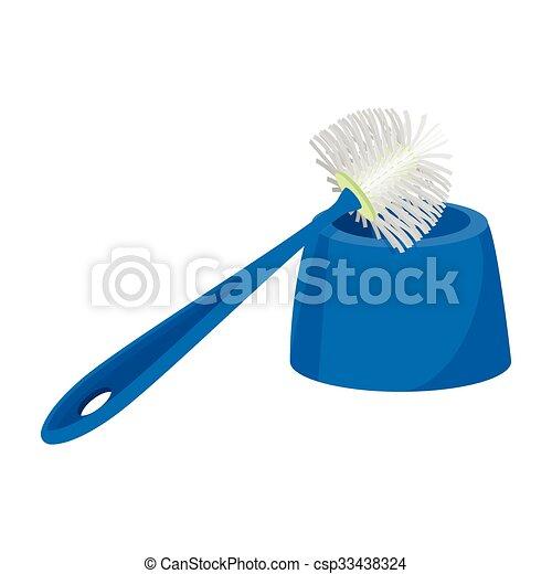 Toilet Brush Cartoon Icon Vector