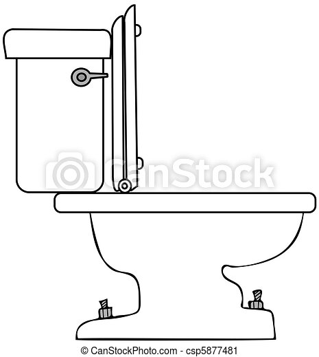 toilet drawing. Stock Illustration  Toilet Clipart of This illustration depicts the side view a