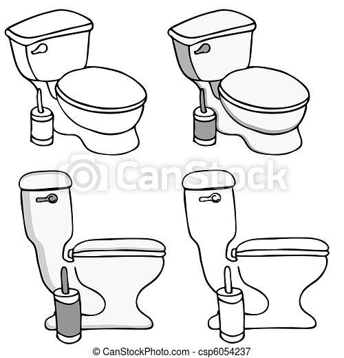 Toilet Commode Set - csp6054237
