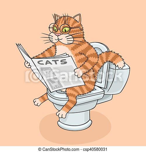 El gato en el baño. - csp40580031