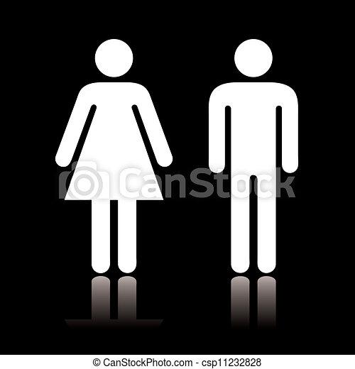 Toilet icon negative - csp11232828