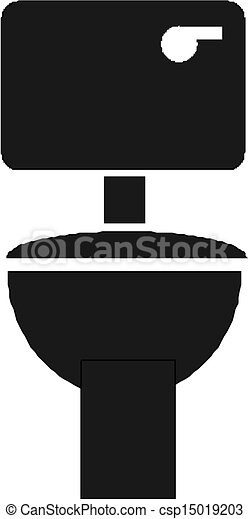 Toilet Illustration Vector Clipart