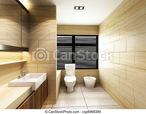 Toilet in Bathroom - csp6968389