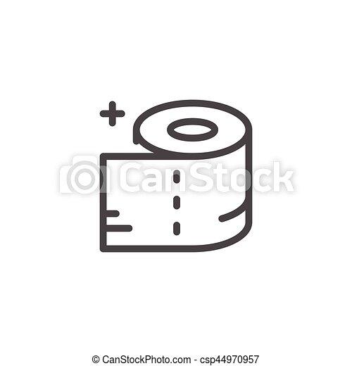 Toilet paper line icon - csp44970957