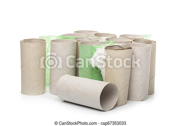 toilet paper on white background - csp67353033