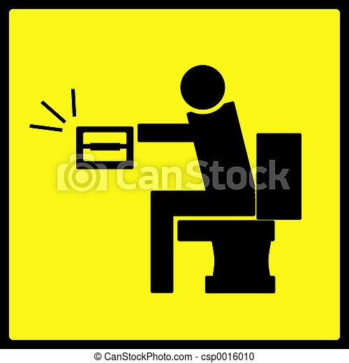 Toilet Paper Sign - csp0016010