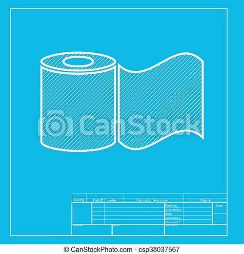 Toilet paper sign white section of icon on blueprint clip art toilet paper sign white section of icon on blueprint template csp38037567 malvernweather Image collections