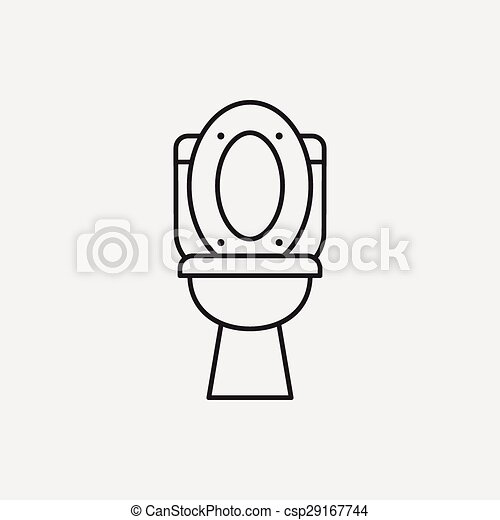 Toilet seat line icon - csp29167744