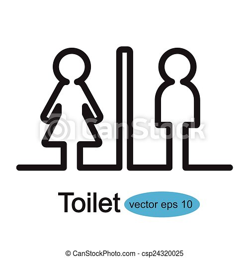 toilet signs vector illustration search clipart drawings and eps rh canstockphoto com restroom sign vector art restroom symbol vector free