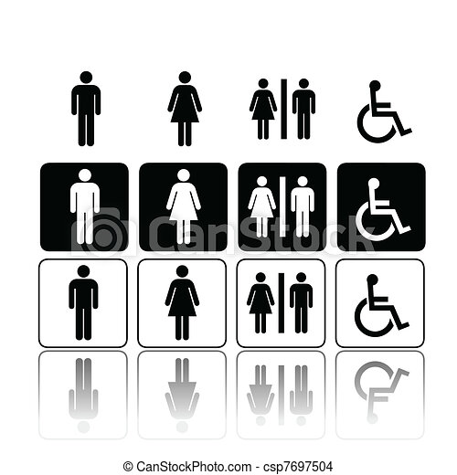 toilet signs, man and woman - csp7697504