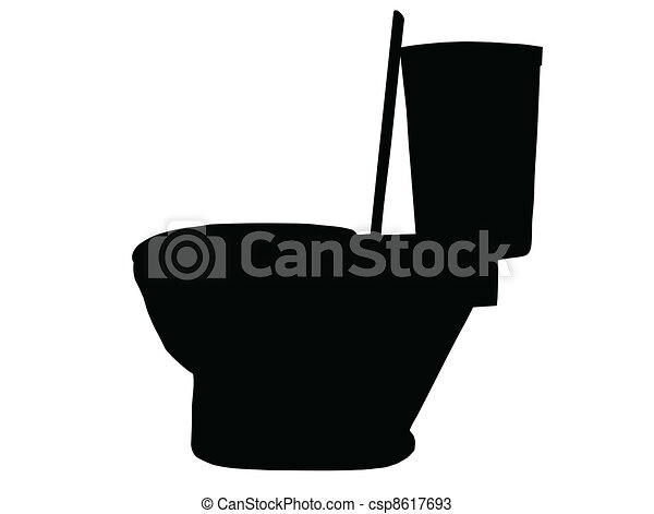 Toilet Silhouette Silhouette Of Side View Of A Modern Vectors