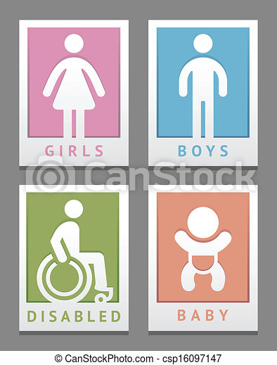 Toilet stickers - csp16097147