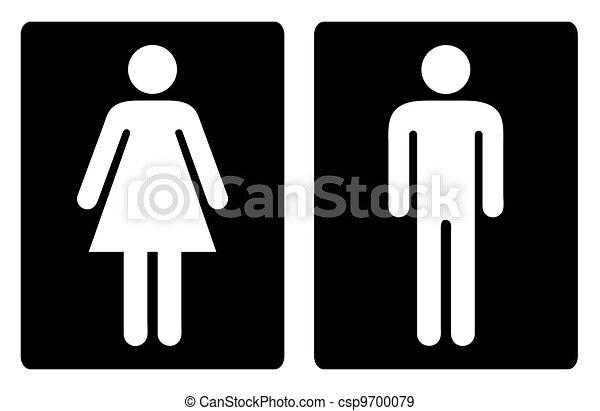 Toilet symbols simple - csp9700079