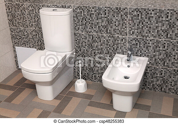 Fantastic Toilet Witte Bidet Wc Kom Toilet Bidet Wc Moderne Gmtry Best Dining Table And Chair Ideas Images Gmtryco