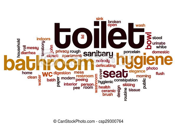 Toilet Word Cloud Concept Toilet Word Cloud