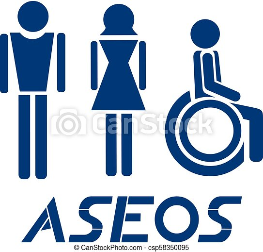 Creative Design Of Toilets Symbol In Spanish Eps Vectors Search