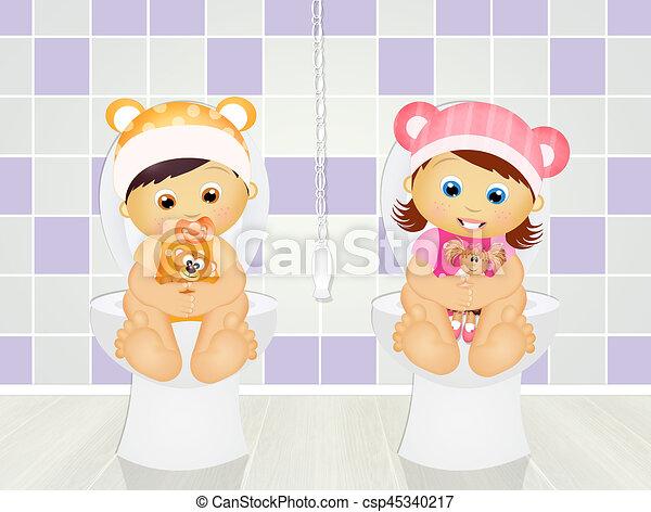toilette enfants illustration clipart recherchez. Black Bedroom Furniture Sets. Home Design Ideas