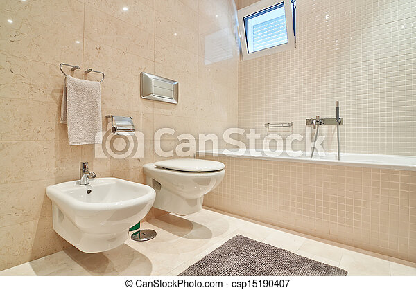 Stock Foto   Toilette, Fliesenmuster, Modern, Keramisch, Close Up.,  Bathroom.