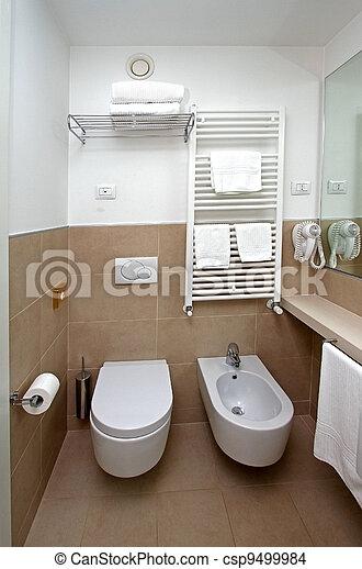 toilette modern badezimmer sauber moderner zeitgenosse handt cher inneneinrichtung. Black Bedroom Furniture Sets. Home Design Ideas