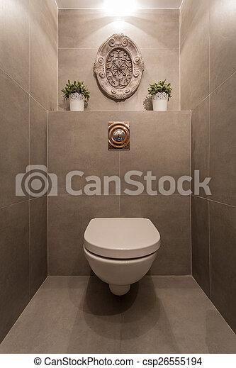 Moderne toilette. Bild der neuen modernen toilette mit ...
