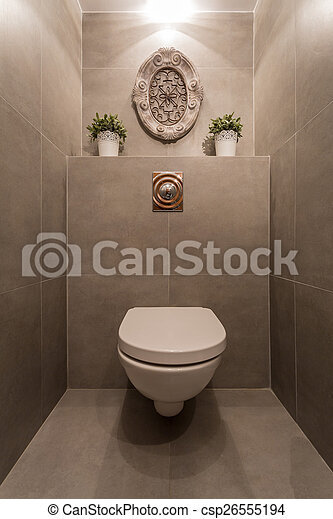 Toilette, modern. Toilette, fliesenmuster, bild, modern, neu , marmor.