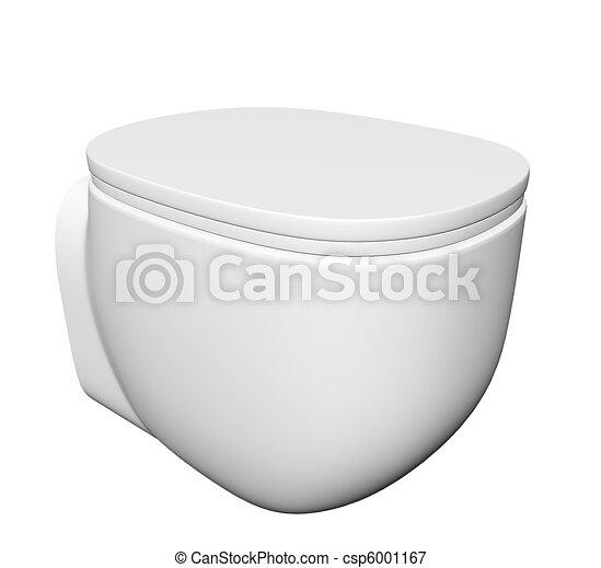 toilette moderne couvercle c ramique bol isol illustration arri re plan contre blanc. Black Bedroom Furniture Sets. Home Design Ideas