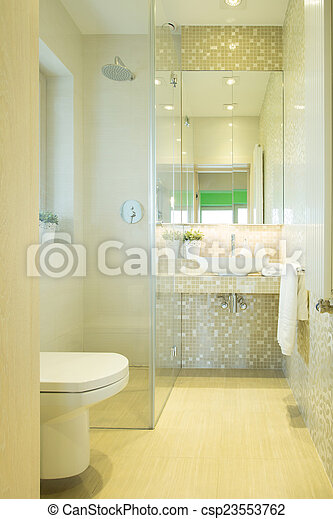toilette, moderne, luxe, résidence
