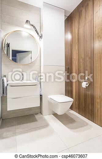 toilette, weißes, modern, wände