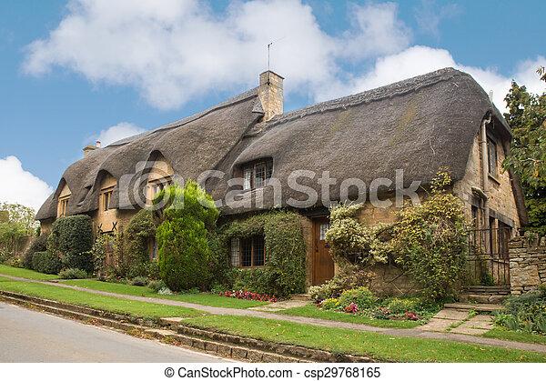 Toit Couvert Chaume, Royaume Uni, Maison   Csp29768165