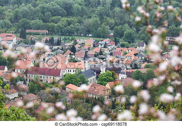 Tokaj town in spring - csp69118078