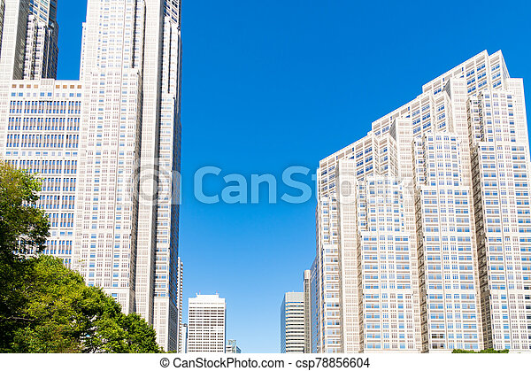 tokio, edificio, city., goverment, japón - csp78856604