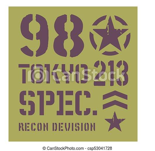 Tokyo military plate design - csp53041728