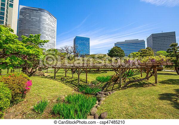 Tokyo sakura spring. Hamarikyu gardens, tokyo, sumida river, chuo ...