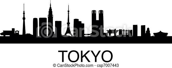 Tokyo Skyline - csp7007443