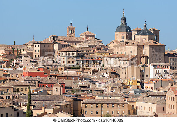 Toledo in a sunny summer day - csp18448009