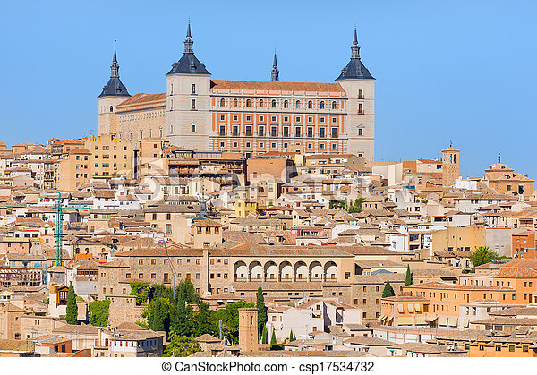 Toledo in a sunny summer day - csp17534732